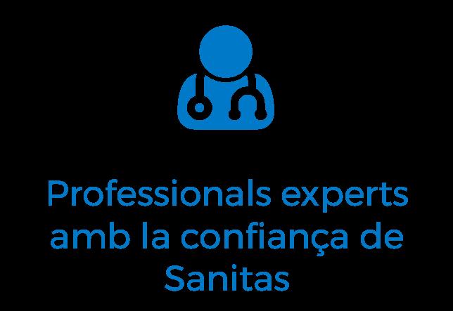 Professionals experts amb la confiança de Sanitas