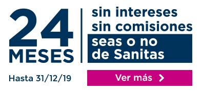 24 meses sin intereses, sin comisiones, seas o no de Sanitas. hasta el 31/12/2019. Ver más.