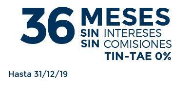 36 meses sin intereses, sin comisiones, seas o no de Sanitas. hasta el 31/12/2019